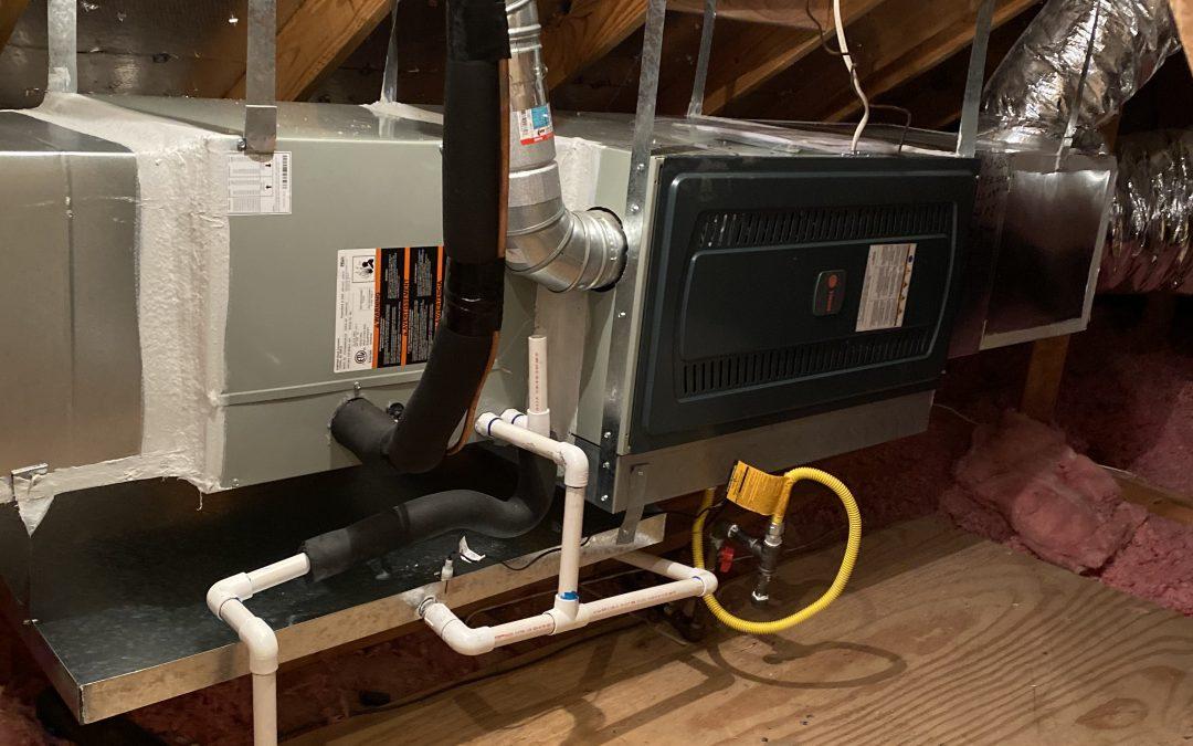Installation of a 3 ton gas furnace Trane, Allen Tx