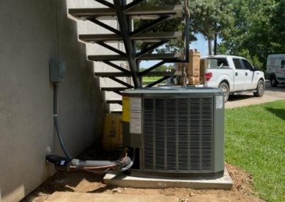 Installation of a 3 Ton Heat Pump With a 3 Ton Air Handler. Trane, Frisco Texas